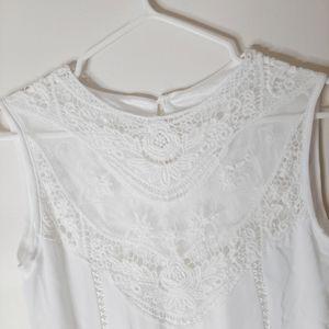 dresslily Dresses - White lace mini dress